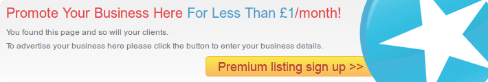 Promote Your Business Here For Less Than £1/month!
